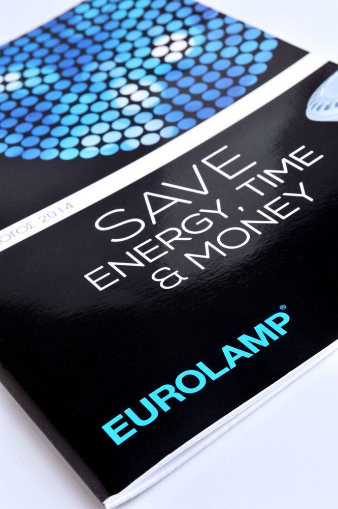 """Σχεδιασμός πολυσέλιδου καταλόγου, για την εταιρία """"Eurolamp"""". / Catalogue design for """"EUROLAMP"""" company."""