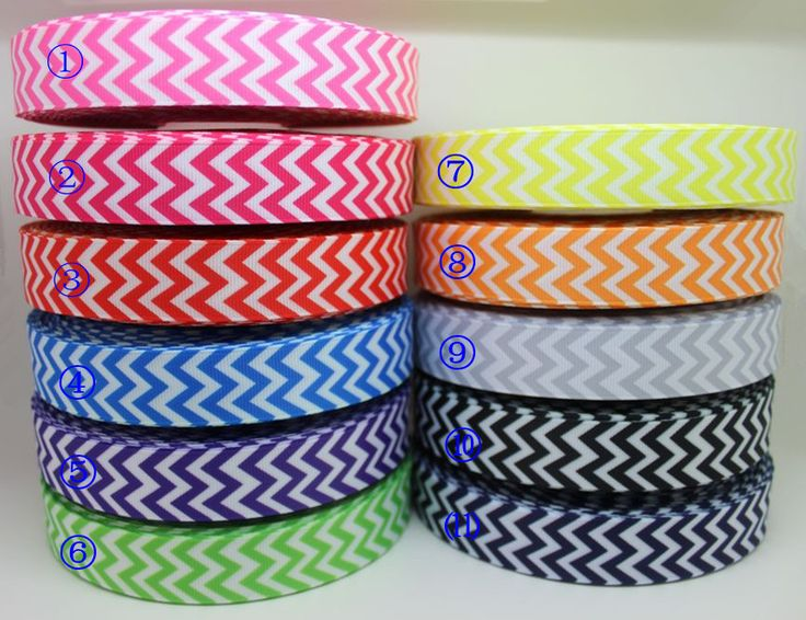 New arrival 7/8'' Free shipping chevron print 11 colors printed grosgrain ribbon hairbow diy party decoration wholesale OEM 22mm-in Ribbons from Apparel & Accessories on Aliexpress.com