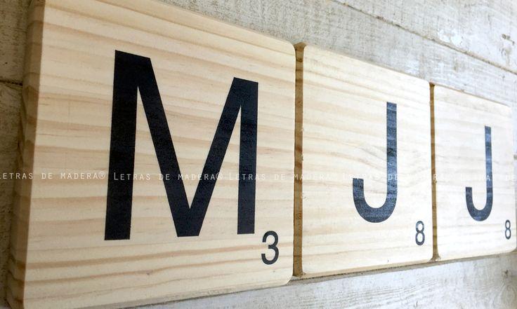 M s de 25 ideas incre bles sobre letras de scrabble en pinterest arte de scrabble scrabble y - Letras scrabble madera ...