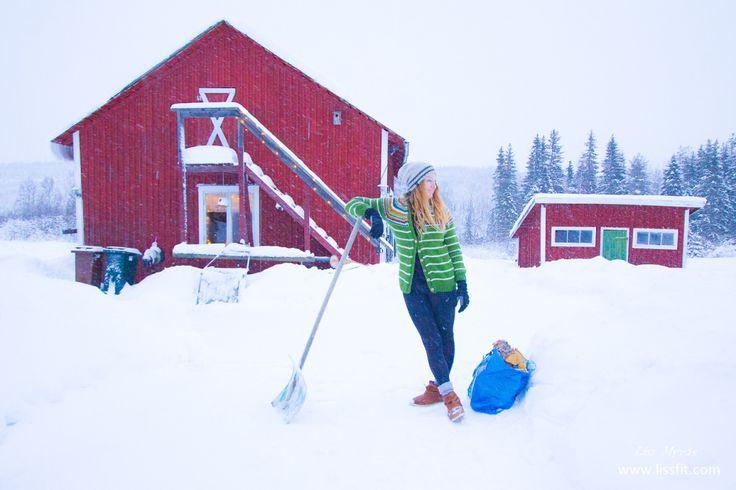 Daily workout #snow #winter #wonderland #winterwonderland #workout #cardio #barn #norrland #örnsköldsvik #outdoor #kofte #nordicinspiration #frost #singlemom #hardwork #firewood #sweden
