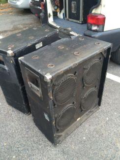 Ampeg B 40 4x10 Bassbox Cabinet 70ties 8 Ohm In Altona