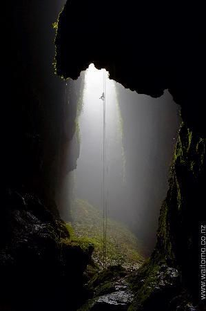 Lost World - Waitomo Caves, New Zealand  Free hanging descent into caves
