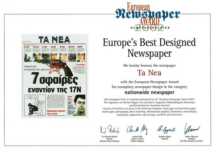 Europe's best Designed Newspaper