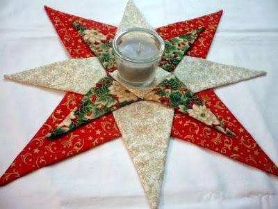 Marypatchwork: Estrellas de Navidad para la mesa.