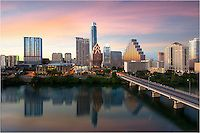 The Austin Skyline on a February evening as seen from the Hyatt Hotel | Rob Greebon Photography