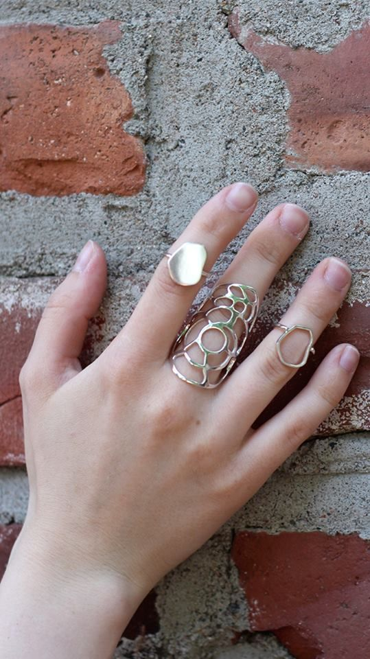 Rings from Kenno Collection/ Mirka Laine #collection #jewellery #jewelry #design #rings #silver #mirkalainedesign #finnishdesign #scandinaviandesign