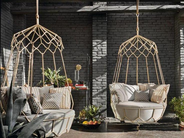jardins contemporains : balancelle pour adulte design par Roberti Rattan