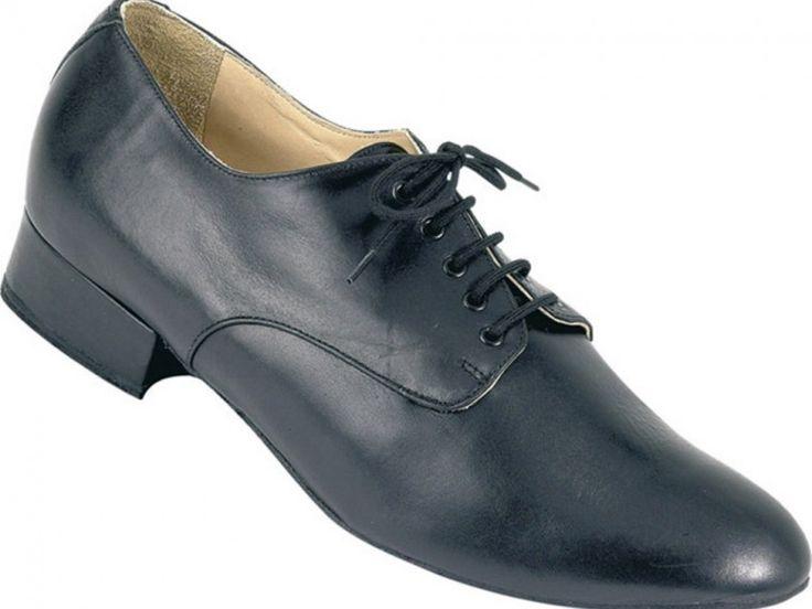 Chaussure de danse et de mariage haut de gamme, fabrication française, 100% personnalisable. Souple et confortable. Ici en cuir noir.