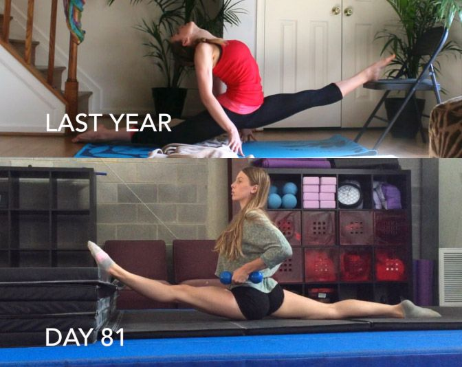 Over Split Before and After- The Flexibility Challenge