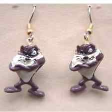 Funky Taz Demonio De Tasmania Figura earrings-vintage Looney Tunes Bisutería