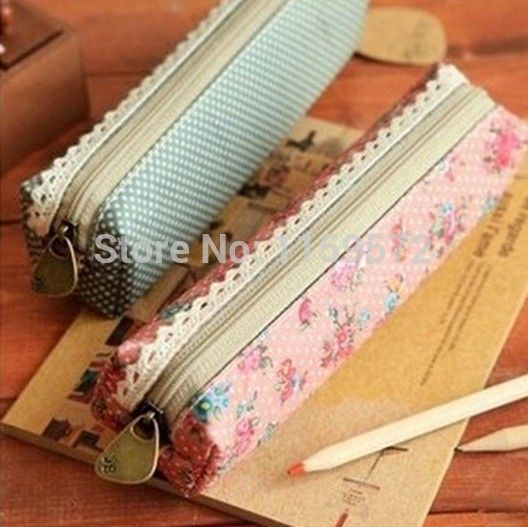 Four colour Korea partysu style, simple small flower design pencilcase for school girls, free shipping and drop shipping