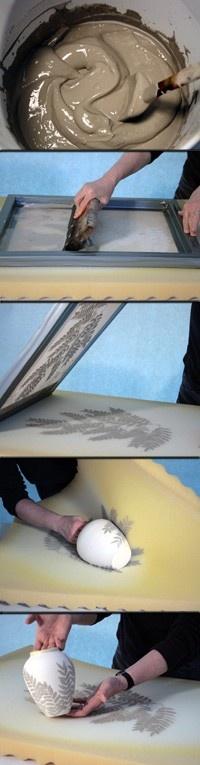 screen print foam process for clay
