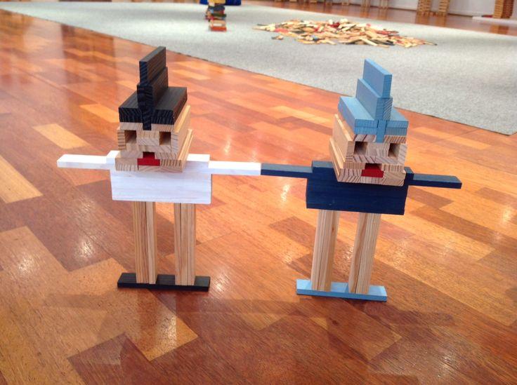 Too cute to be less than 100 KAPLA blocks. #gifts #toys # blocks #K12 #homeschool