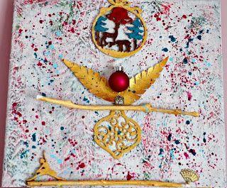 Christmas Wonder - mixed media canvas, 80x40 cm