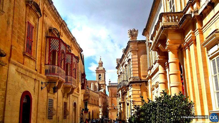 Séjour linguistique à Malte avec le CEI  #Malte #Malta #CEI #voyage #travel #colonie #sejourlinguistique #holiday #paradise #summer #sun #street #architecture
