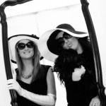 Coco Chanel inspired photobooth. We had all of the guests dress up in fun accessories and have their picture taken behind the mirror. Everyone had a blast!
