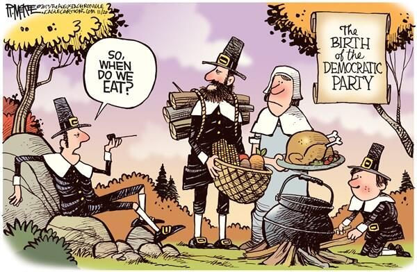 Thanksgiving Humor: Birth of the Democratic Party