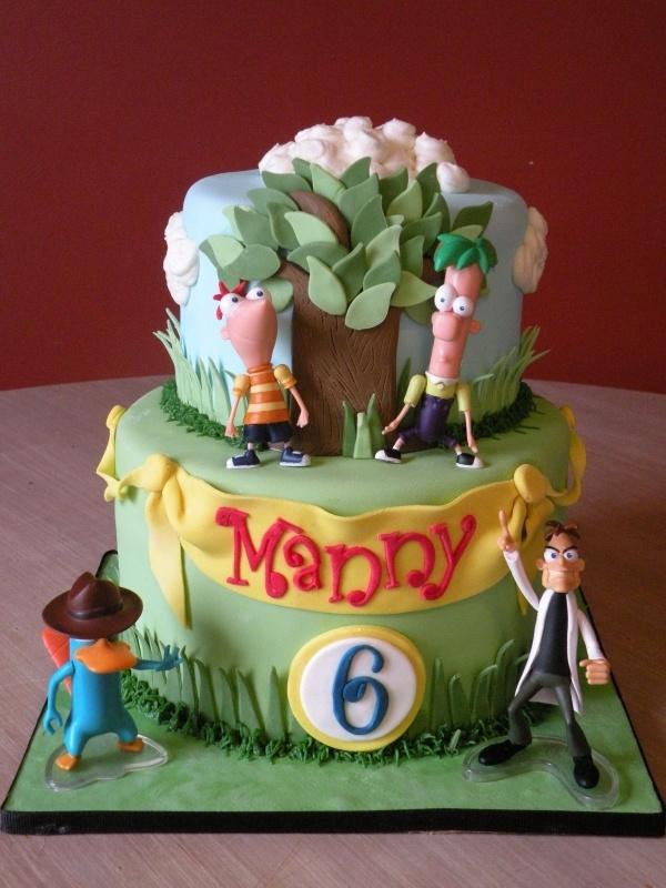 Phineas & Ferb birthday cake: Dads Birthday, Cakes Ideas, Phineas Ferb, Ferb Birthday, Ferb Parties, Parties Ideas, Ferb Cakes, 20Th Birthday, Birthday Cakes