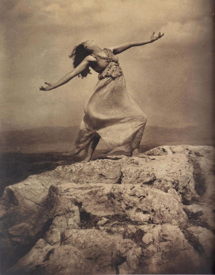 Edward Steichen - Therese Duncan on the Acropolis, Athens, 1921.… from Edward Steichen: Lives in Photography, by Todd Brandow and William A. Ewing, Foundation for the Exhibition of Photography, and the Musee de l'Elysee, Lausanne, 2007.