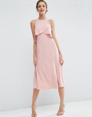 ASOS WEDDING - Robe mi-longue double épaisseur