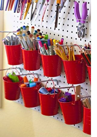 Great uses for pegboard - OMG! The possibilities are endless! You can do a whole wall and organize EVERYTHING!