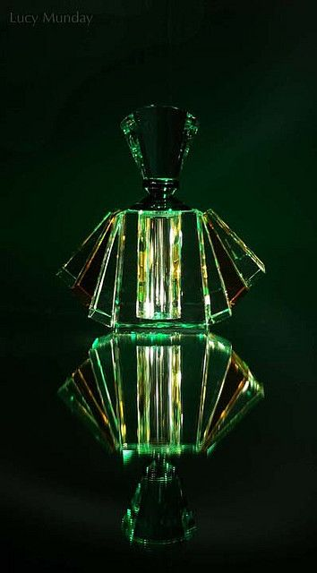 Still life #photography of #art-deco perfume bottle by Lucy Munday. See more at www.lucymunday.com