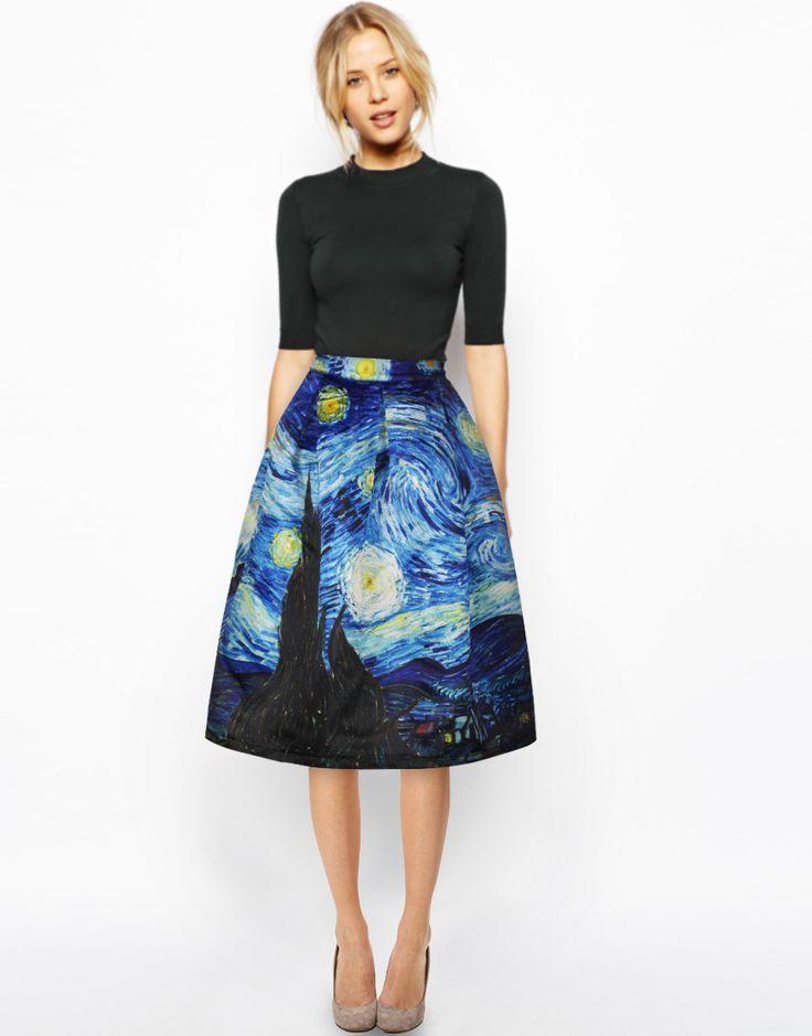 High Waist Skirt Rockabilly Tutu Retro Puff Skirt
