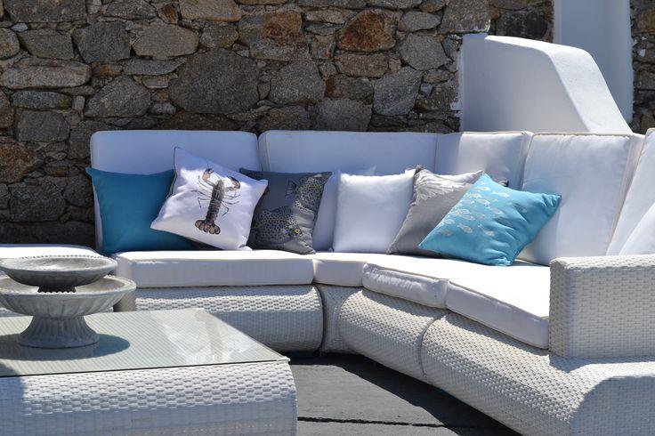 sofa corner in white