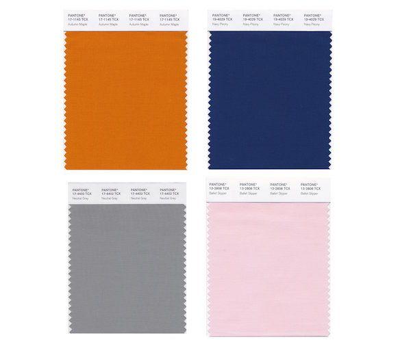 PANTONE Releases Its List Of Top Trending Colors For Autumn 2017 - DesignTAXI.com