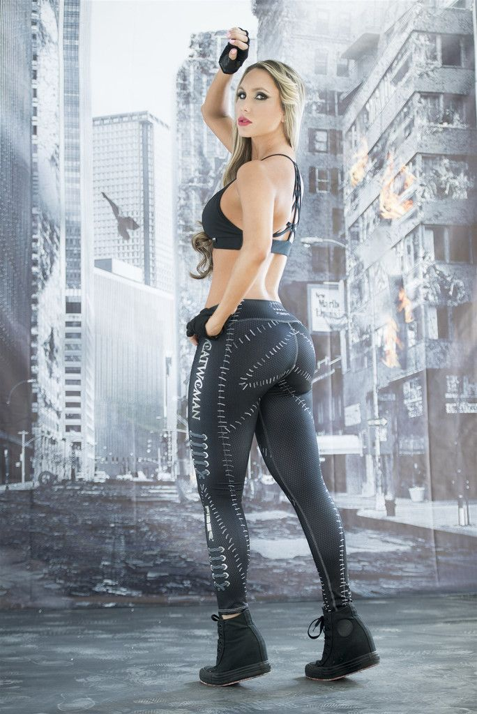 Cat Woman - Super Hero Leggings - Fiber - Roni Taylor Fit - 3 These Cat Woman…