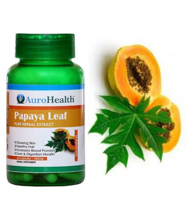 AuroHealth Papaya Leaf Extract for platelets Capsule 60 no