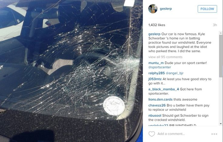 MESA, Ariz. – It hasn't even been a day into the Cubs' Spring Training but already Kyle Schwarber has smashed a windshield with a home run. The car's owner posted the incident to Instagram. Schwarb…