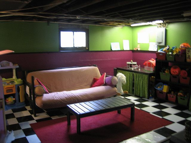 great finished basement ideas with sofa bed ideas