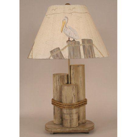 Coast Lamp Mfg. Coastal Living Dock Pilings 29'' H Table Lamp with Empire Shade