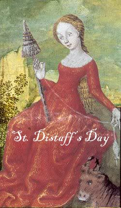 Our St. Distaff's Day Sale has now started with prices up to 50% off on exotic fibre blends. Celebrate the day with friends and delicious fibre and yarn treats. Sale runs though January 7.  http://ancientartsfibre.com/St_Distaff_s_Day_Sale/  Happy Knitting! Happy Spinning!