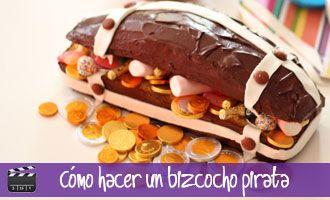 Tarta de cumpleaños pirata: Cómo hacer un bizcocho de cofre pirata