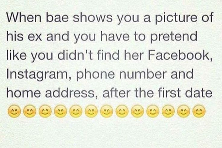 Lmao which is why I had to change my IG, FB, & number, oh and remove all public addresses cuz bitches be crazy.