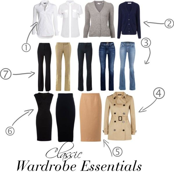 Classic Wardrobe Essentials - these pieces are worth the investment, they'll never go out of style