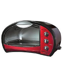 Chef Pepin Red 4-slice Retro Toaster Oven