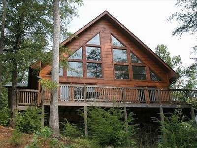 Beautiful view from this 3 bedroom authentic cabin rental for 6 bedroom cabin rentals in gatlinburg tn