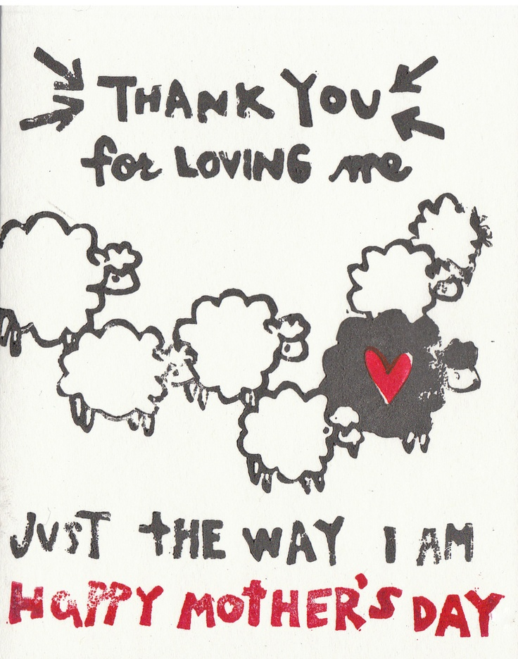So me!  Next MDay card for my mom.  I have been called the black sheep of our family many times and I LOVE it!  ;)