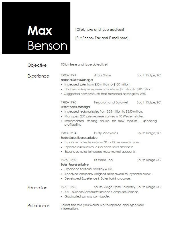 For Openoffice 4 Resume Templates Pinterest Template