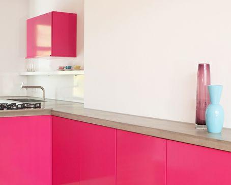 M s de 1000 im genes sobre cocinas rosas en pinterest - Cocinas de color rosa ...