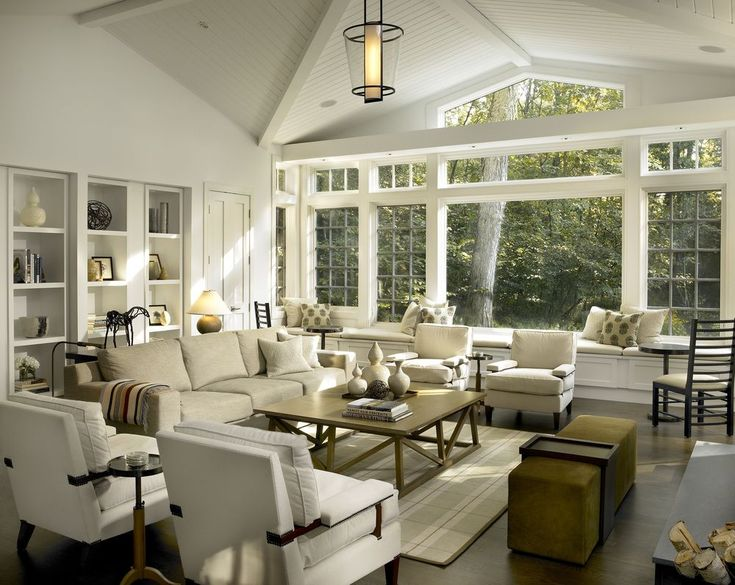 This Contemporary Living Room From Kadlec Architecture + Design Is Bathed  In Sunlight And Full Of