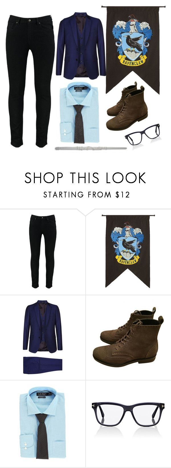 """""""ravenclaw"""" by kylieriot ❤ liked on Polyvore featuring Rubie's Costume Co., Paul Smith, Pierre Hardy, Lauren Ralph Lauren, Tom Ford, men's fashion and menswear"""