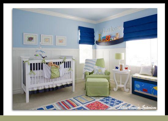 Nautical Blue Baby Nursery