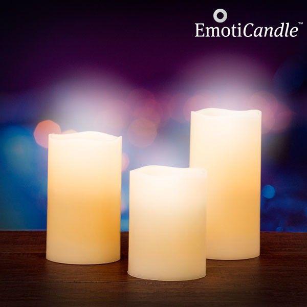 Ak dávate prednosť LED osvetleniu, nenechajte si ujsť LED sviečky Blow Sensor EmotiCandle. LED sviečky sú vyrobené z pravého vosku a majú vanilkovú vôňu.