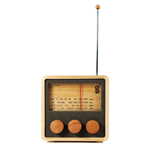 For every tree used to make these hand-crafted radios a new tree is planted, now that's something you can feel good about.