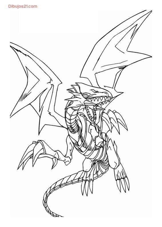 Coloriage Yu Gi Oh Ausmalen Weisser Drachen Ausmalbilder