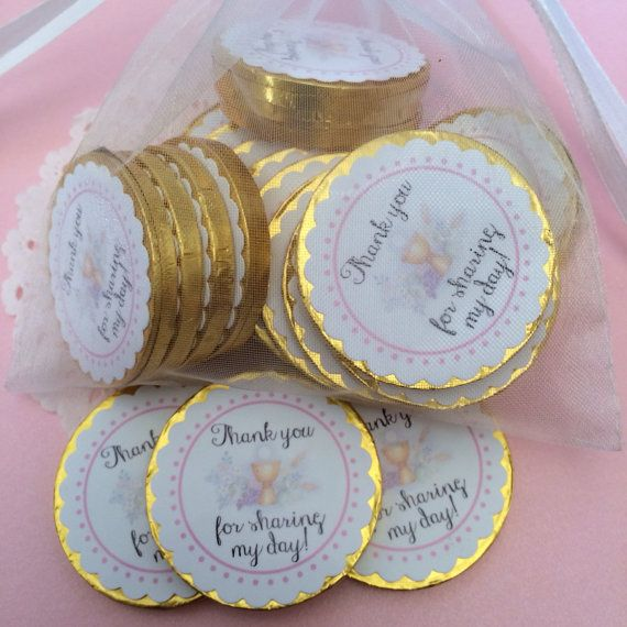 buy chocolate coins ... print labels  use them in the tables